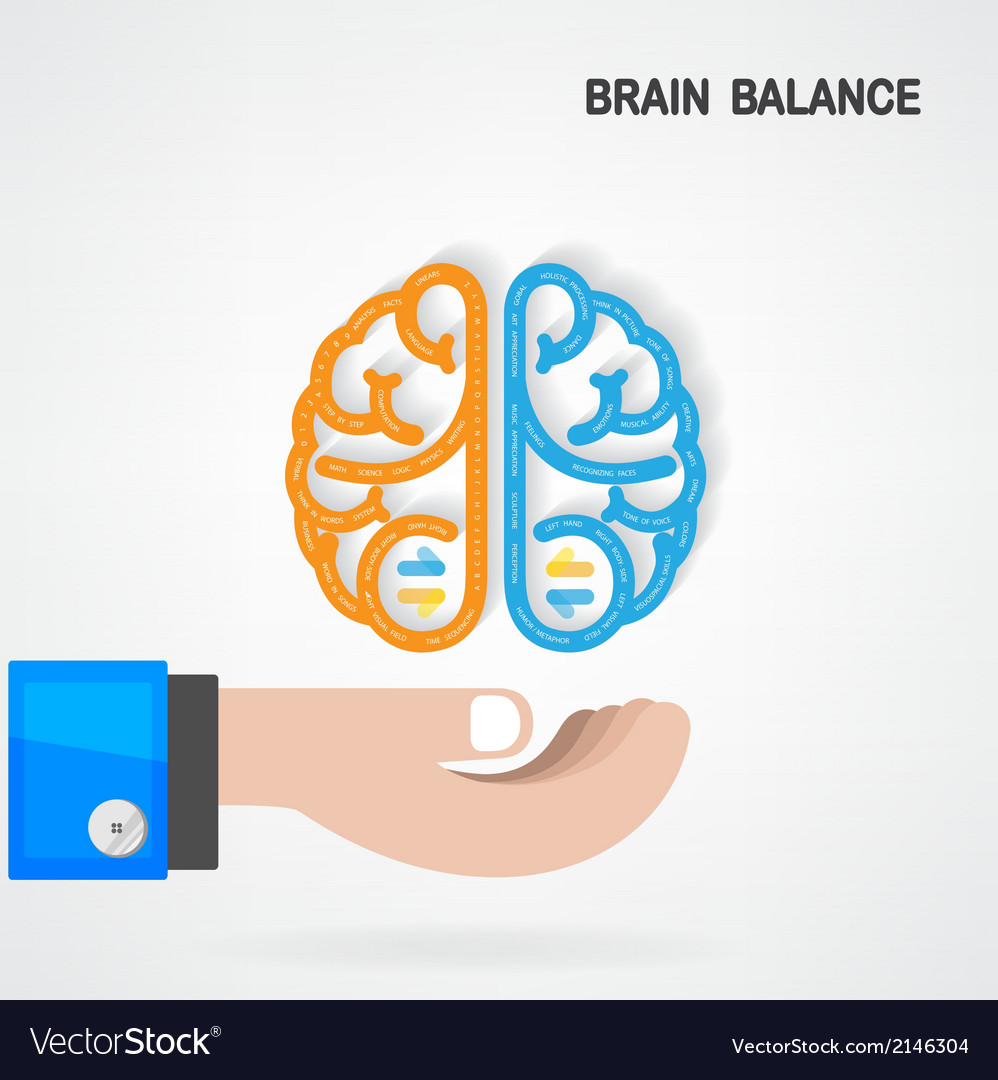 Creative colorful left and right brain idea vector | Price: 1 Credit (USD $1)