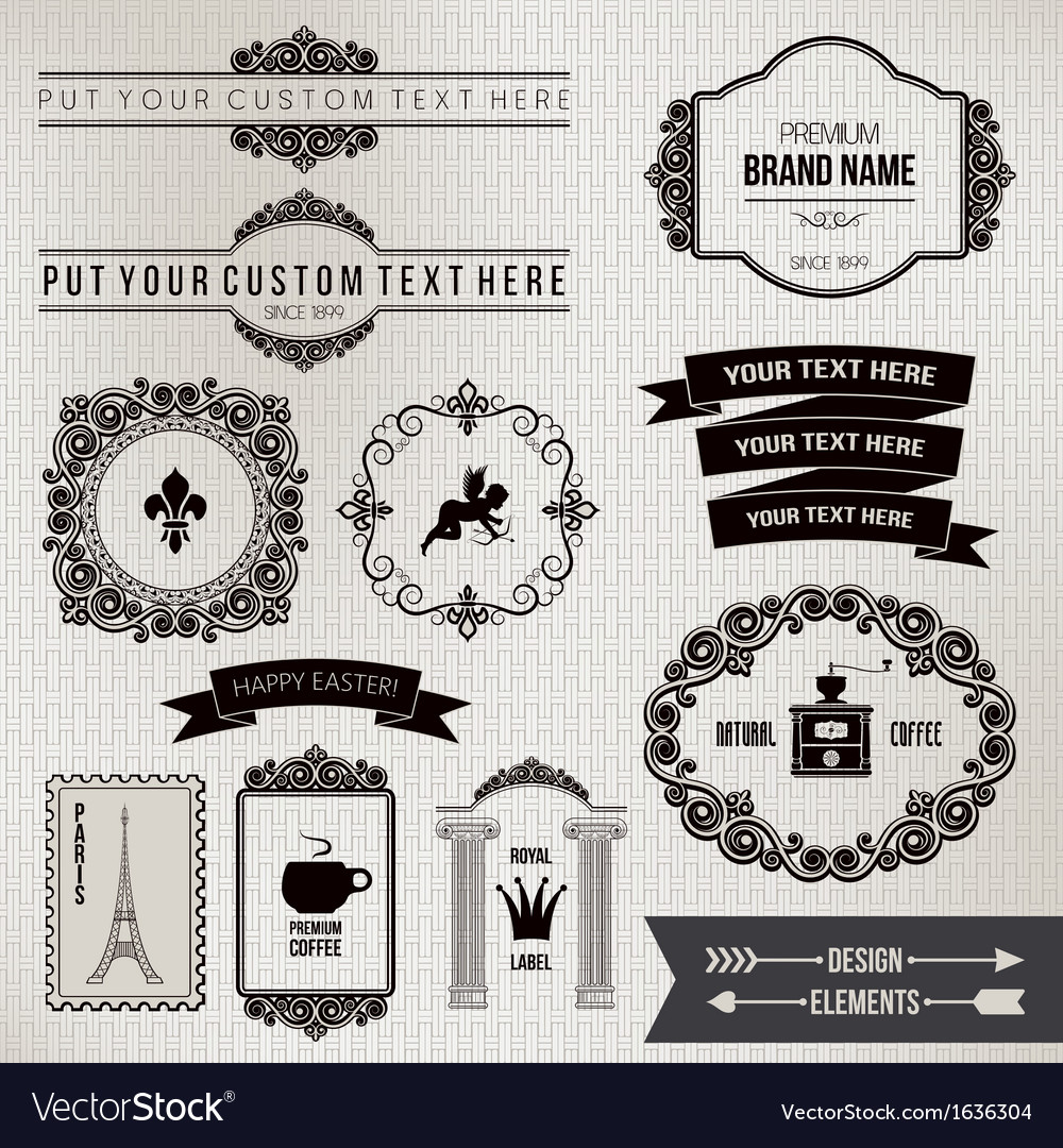 Design elements part 2 vector | Price: 1 Credit (USD $1)