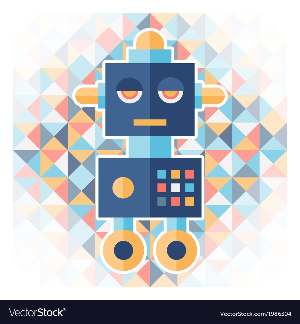 Geometric background with robot vector | Price: 1 Credit (USD $1)