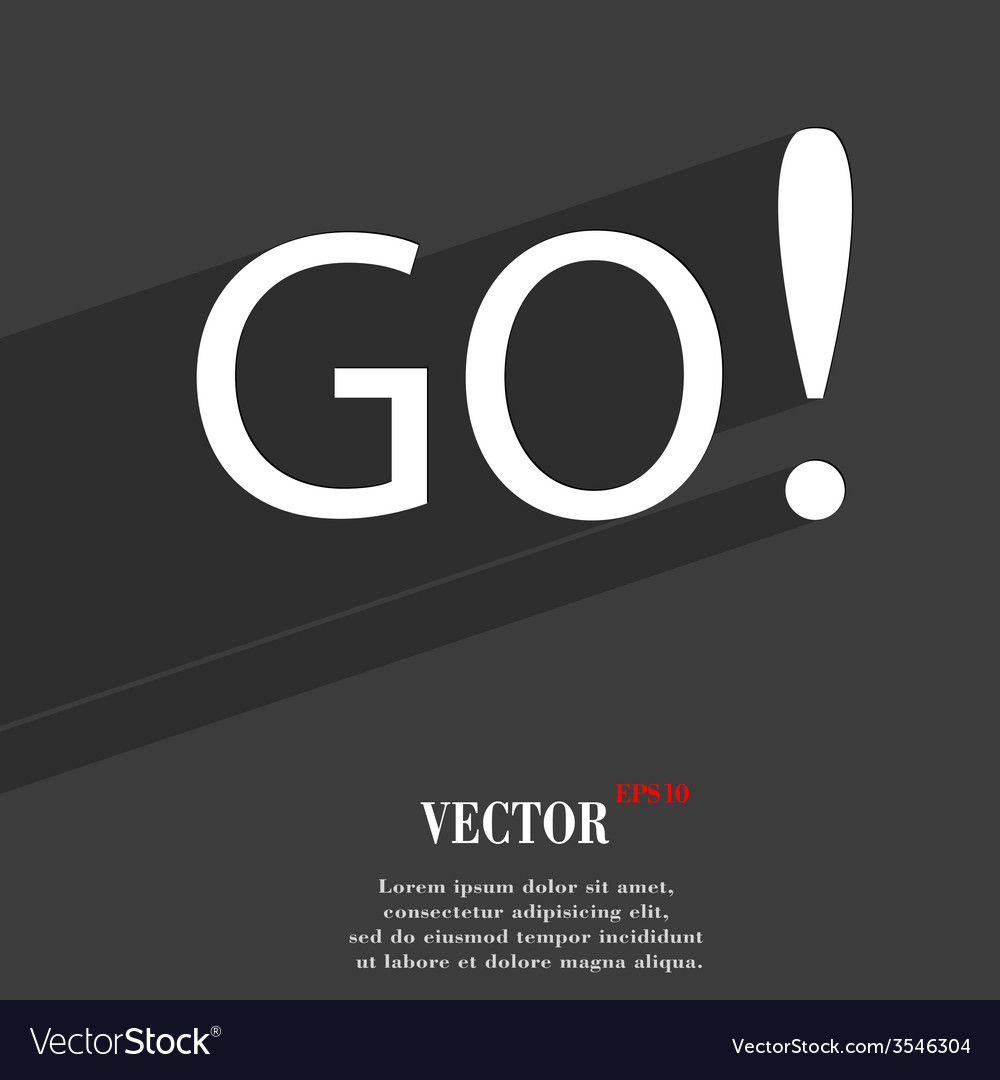 Go icon symbol flat modern web design with long vector | Price: 1 Credit (USD $1)