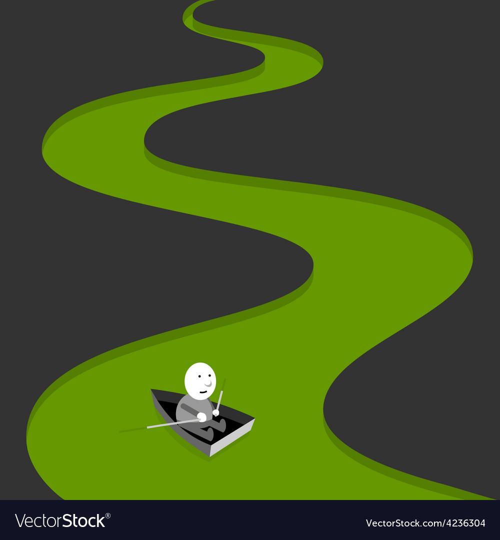 Green river vector
