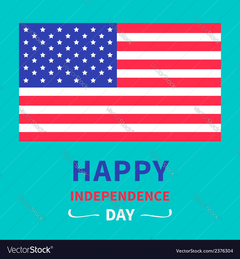 Independence day united states of america vector | Price: 1 Credit (USD $1)