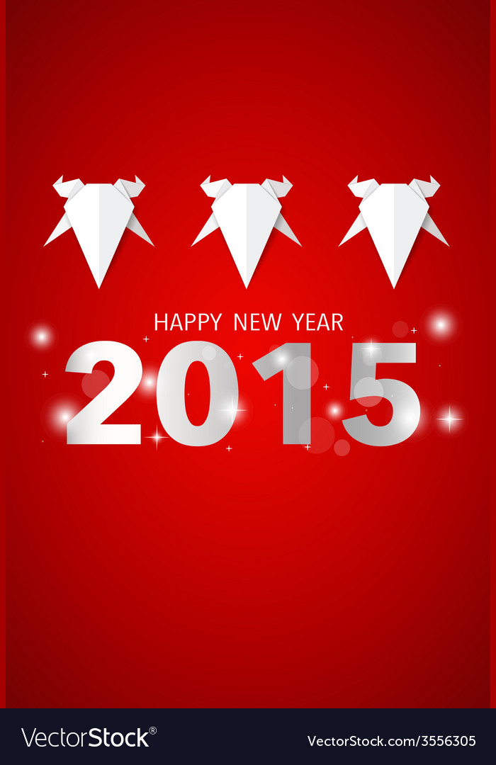 2015 happy new year year of goat vector | Price: 1 Credit (USD $1)