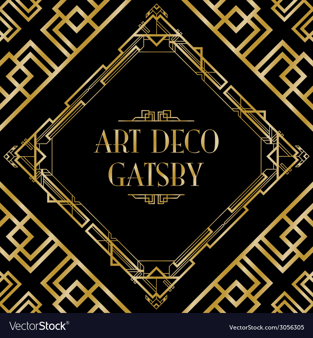 Art deco gatsby wedding vector | Price: 1 Credit (USD $1)