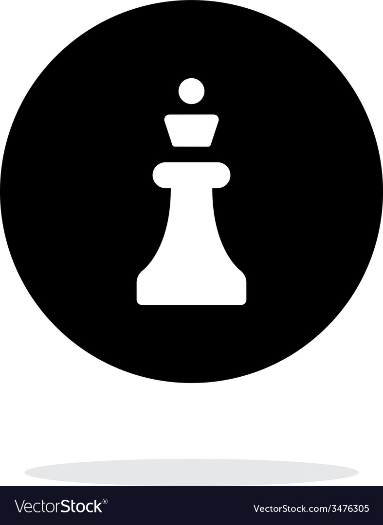 Chess queen simple icon on white background vector | Price: 1 Credit (USD $1)
