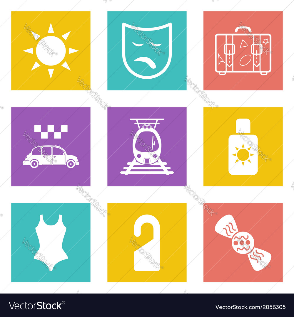 Color icons for web design set 41 vector | Price: 1 Credit (USD $1)