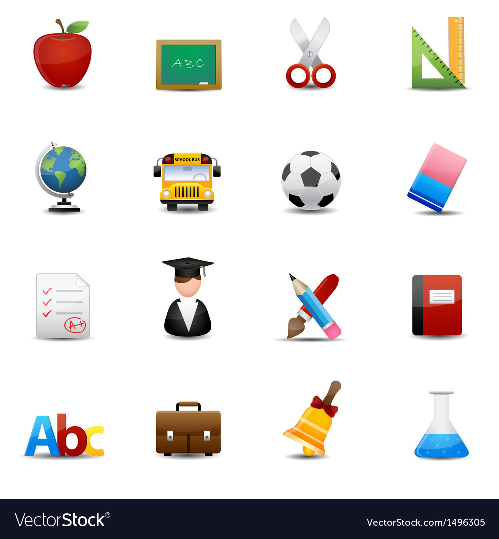 Education icons vector | Price: 3 Credit (USD $3)