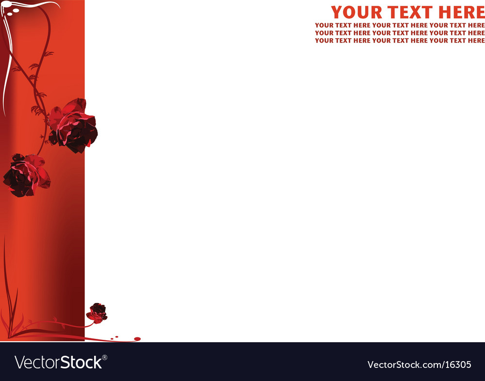 Floral page border vector | Price: 1 Credit (USD $1)