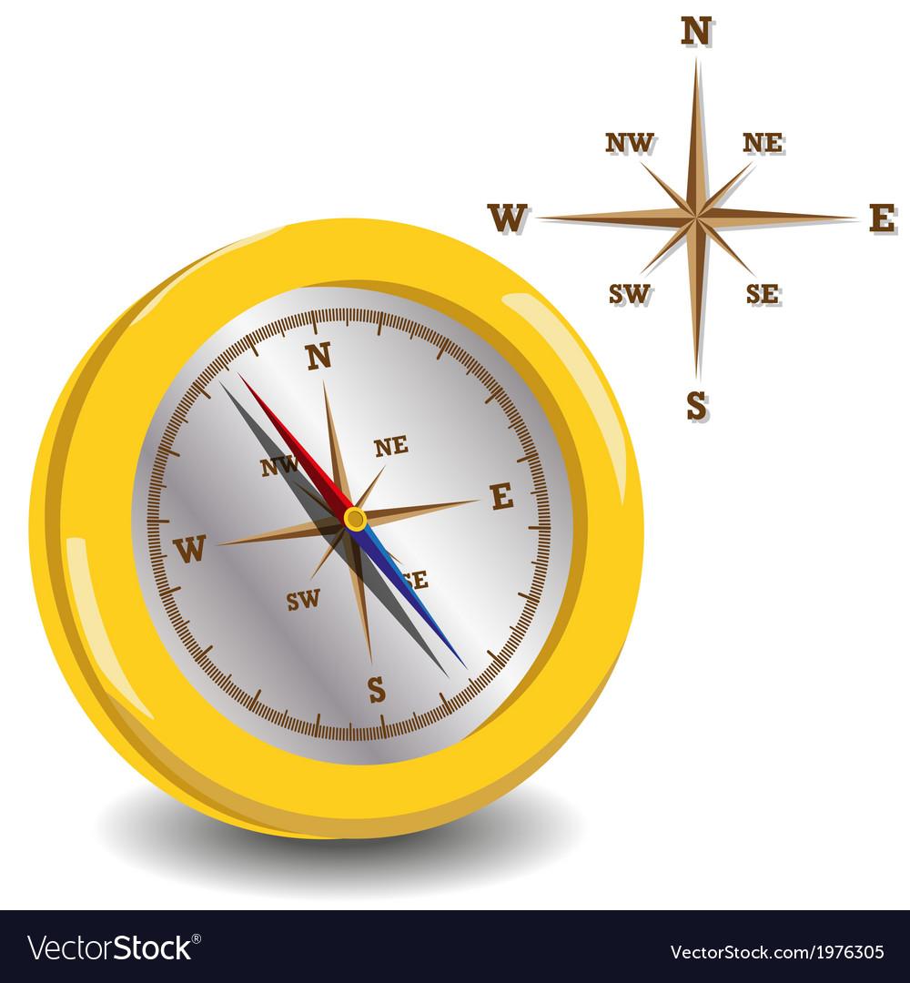 Golden compass vector | Price: 1 Credit (USD $1)
