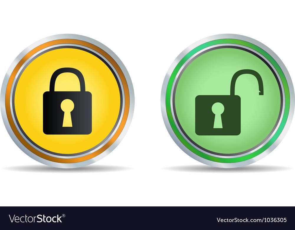 Lock icon circle vector | Price: 1 Credit (USD $1)