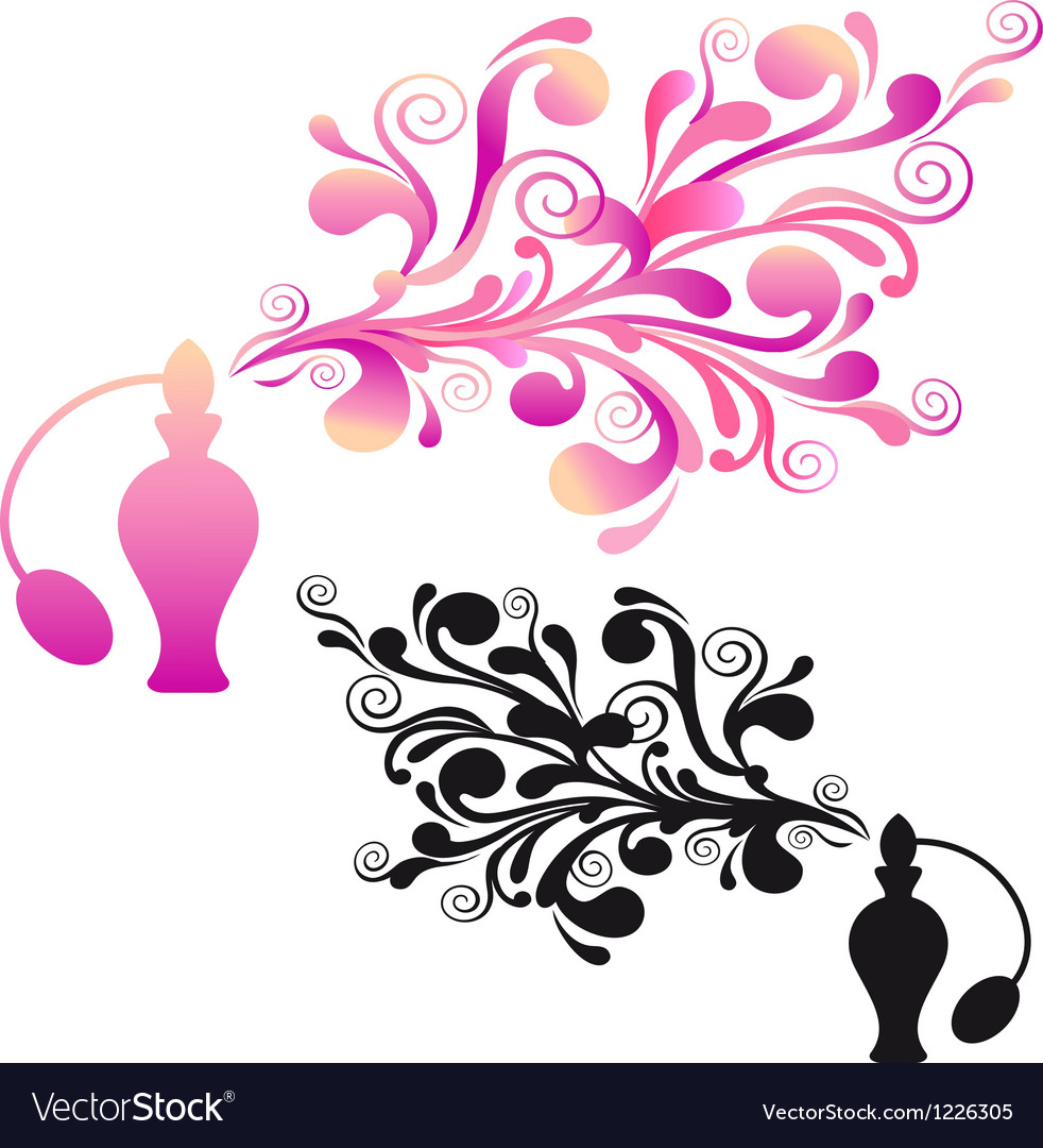 Perfume bottle with floral scent vector | Price: 1 Credit (USD $1)