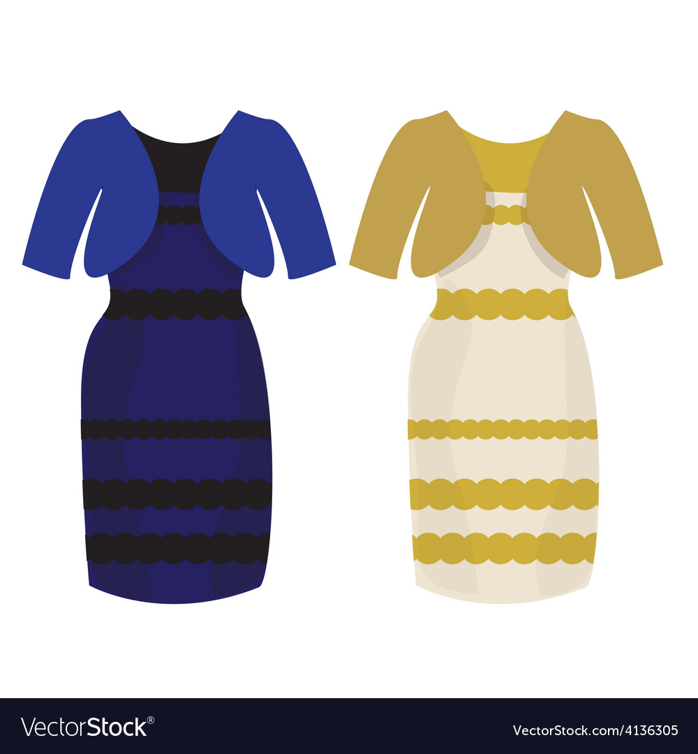 Puzzle what color of dress white and gold or vector | Price: 1 Credit (USD $1)