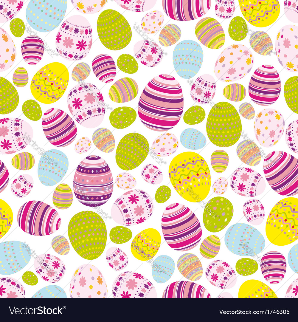 Seamless easter eggs background vector | Price: 1 Credit (USD $1)