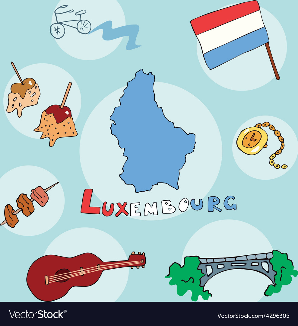 Set of national profile of the luxembourg vector | Price: 1 Credit (USD $1)