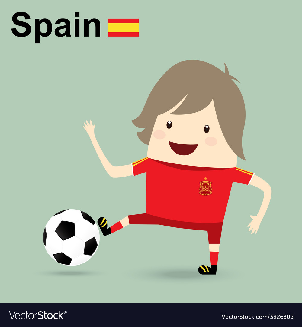 Spain national football team businessman happy is vector | Price: 1 Credit (USD $1)