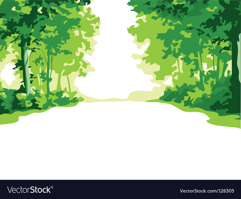 Summer forest vector | Price: 1 Credit (USD $1)