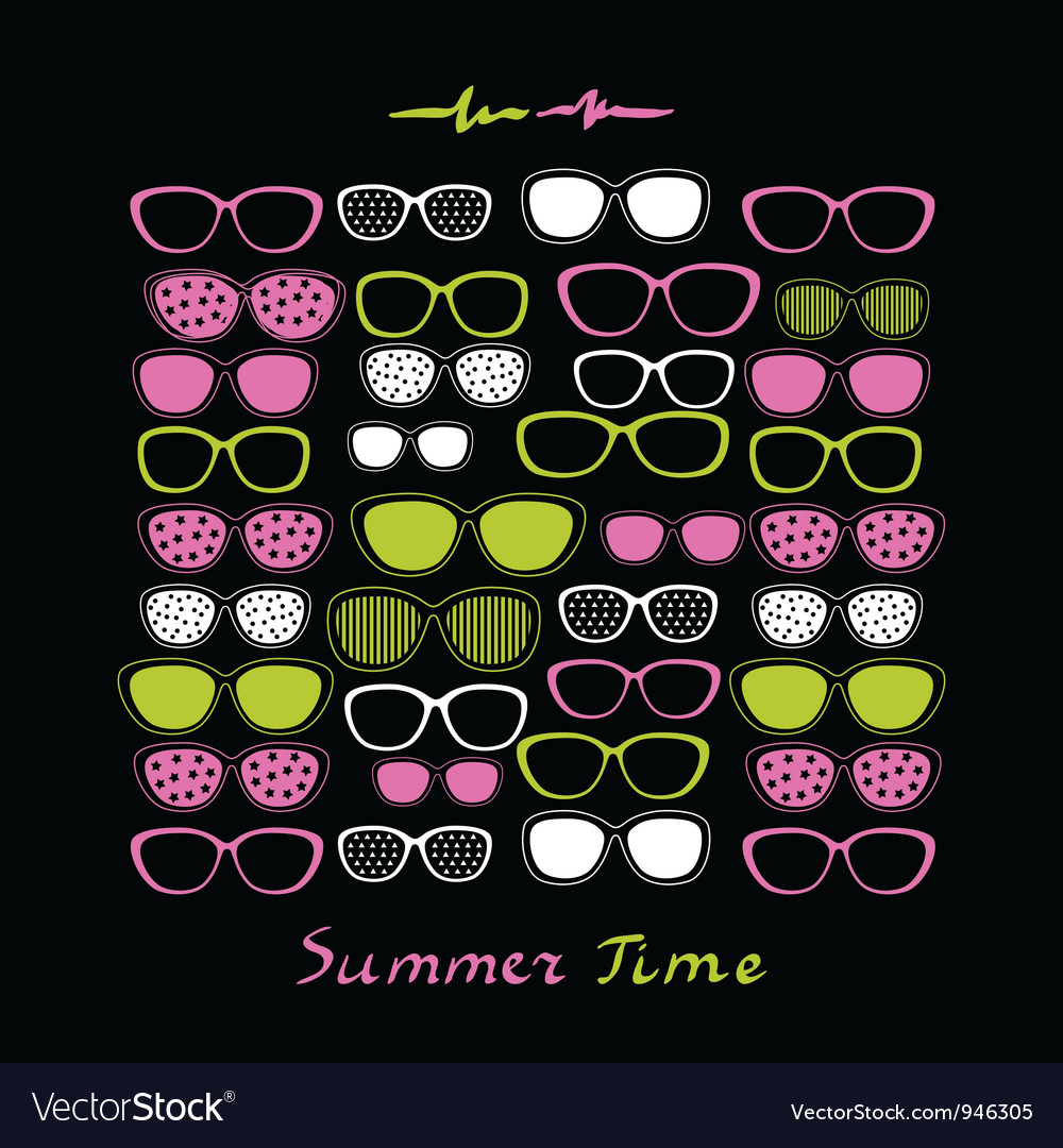Summer sunglasses background vector | Price: 1 Credit (USD $1)