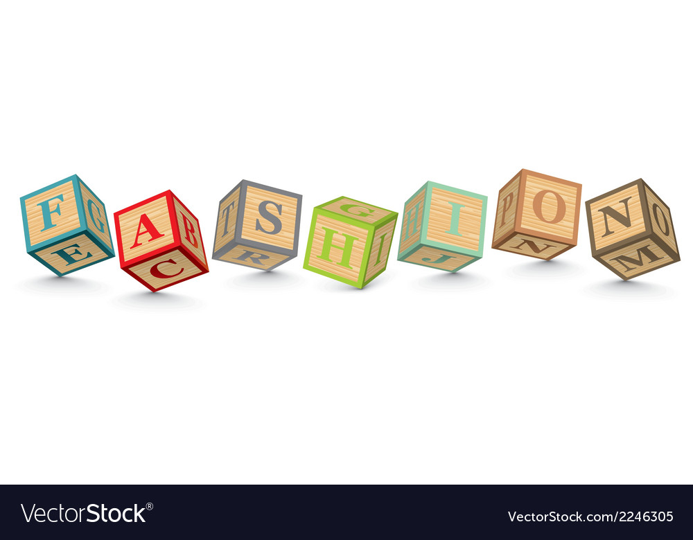 Word fashion written with alphabet blocks vector | Price: 1 Credit (USD $1)
