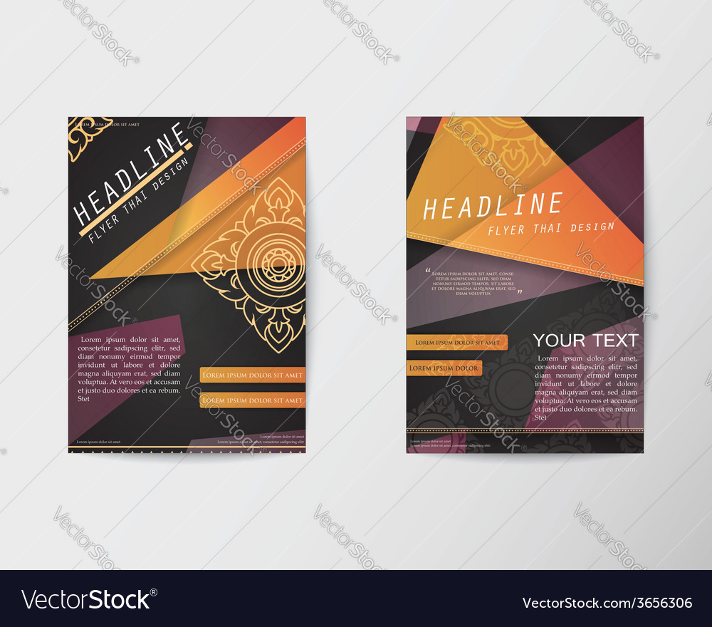 Abstract triangle design thai style brochure flyer vector | Price: 1 Credit (USD $1)