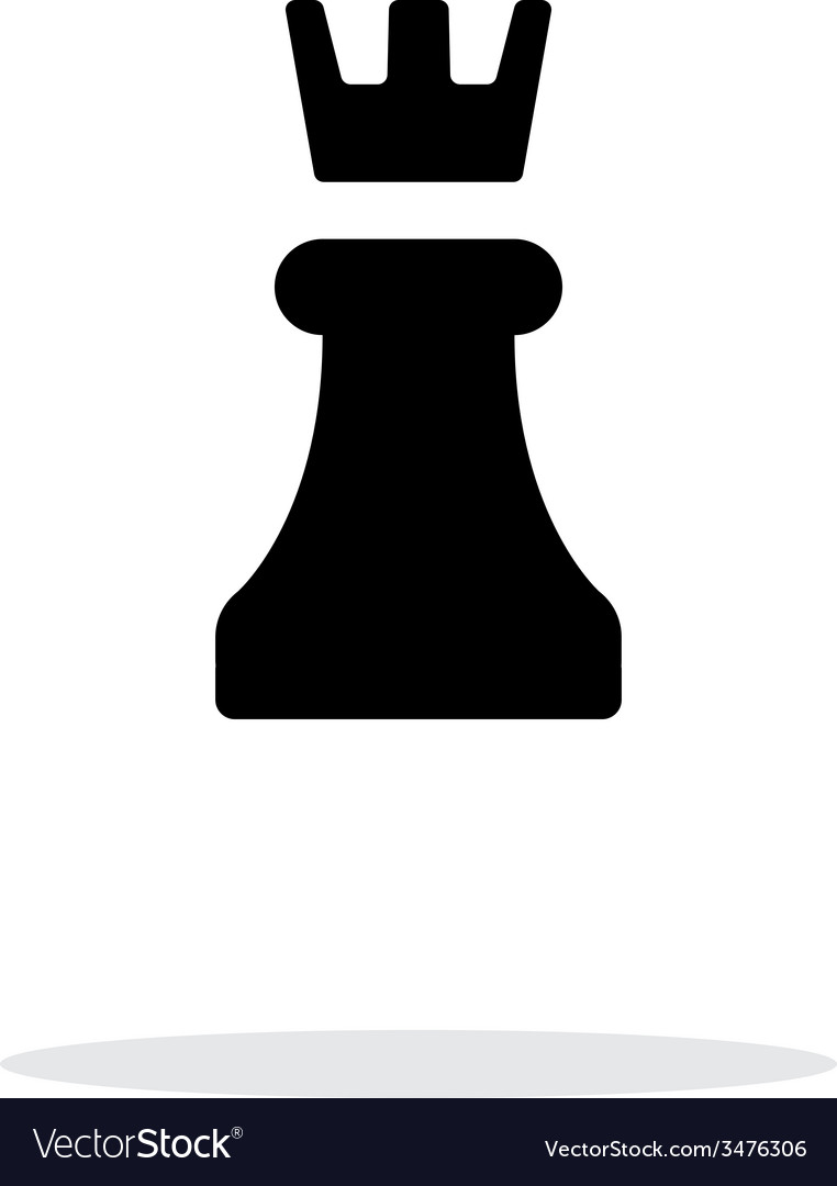 Chess rook simple icon on white background vector | Price: 1 Credit (USD $1)