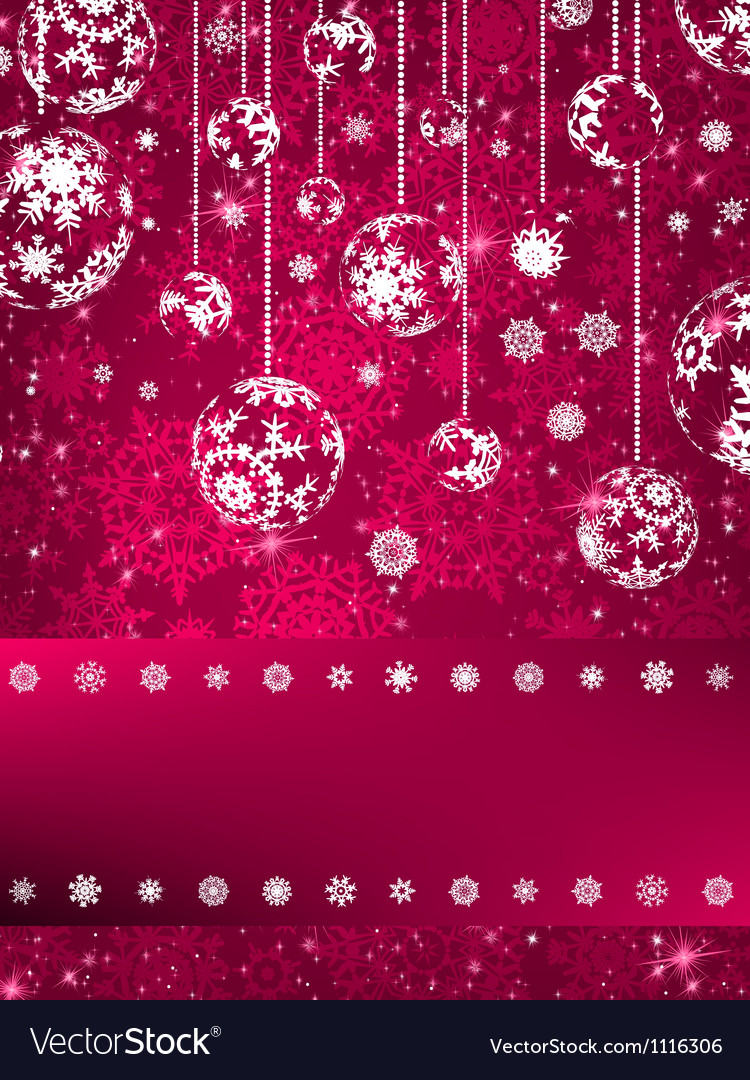 Christmas balls over green bokeh eps 8 vector | Price: 1 Credit (USD $1)