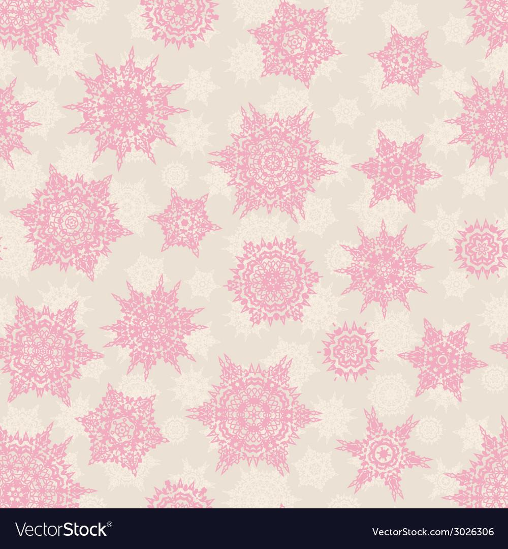Christmas seamless pattern snowflake eps 10 vector | Price: 1 Credit (USD $1)