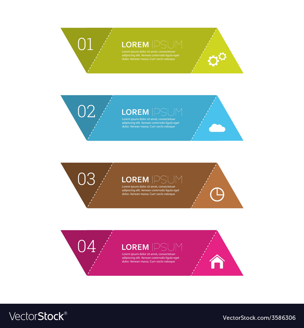 Comparative chart with templates for presentation vector | Price: 1 Credit (USD $1)