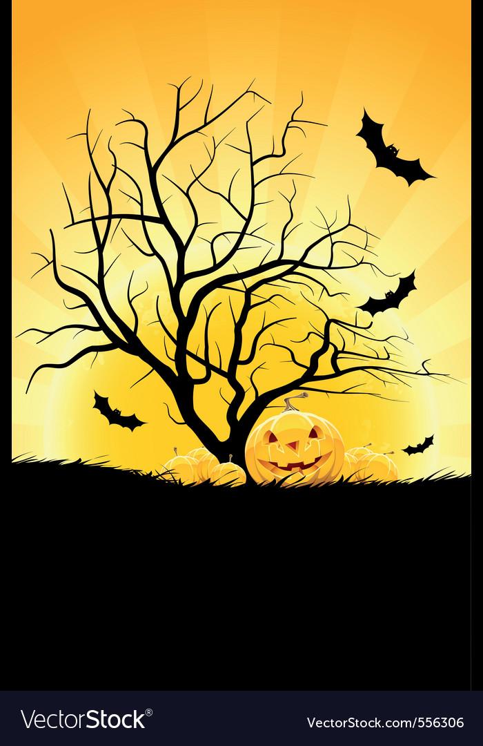 Halloween background with pumpkin vector   Price: 1 Credit (USD $1)