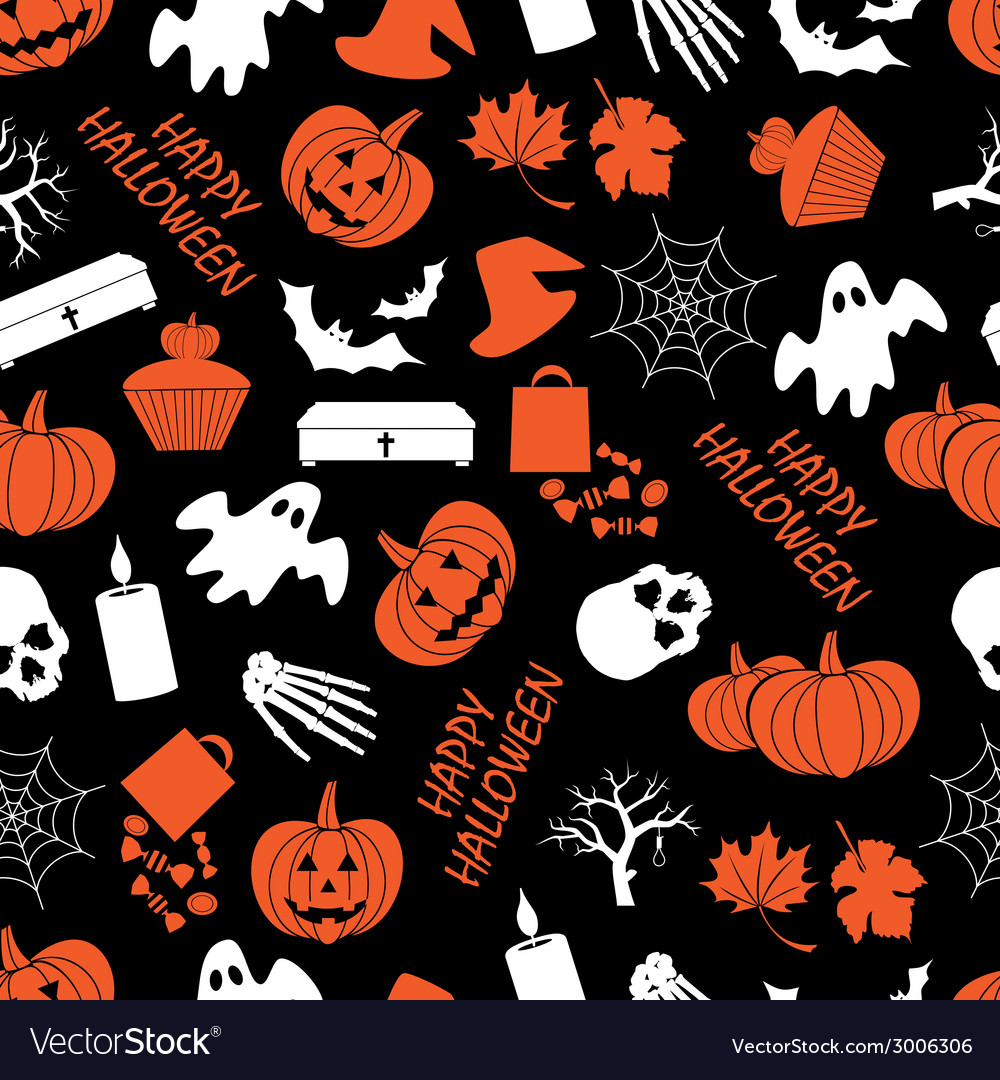 Halloween dark seamless pattern eps10 vector | Price: 1 Credit (USD $1)