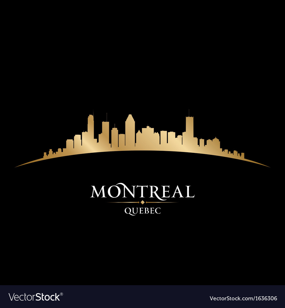 Montreal quebec canada city skyline silhouette vector | Price: 1 Credit (USD $1)