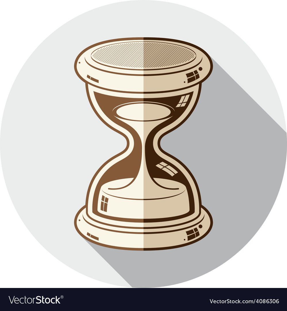 Old-fashioned simple 3d hourglass time management vector | Price: 1 Credit (USD $1)