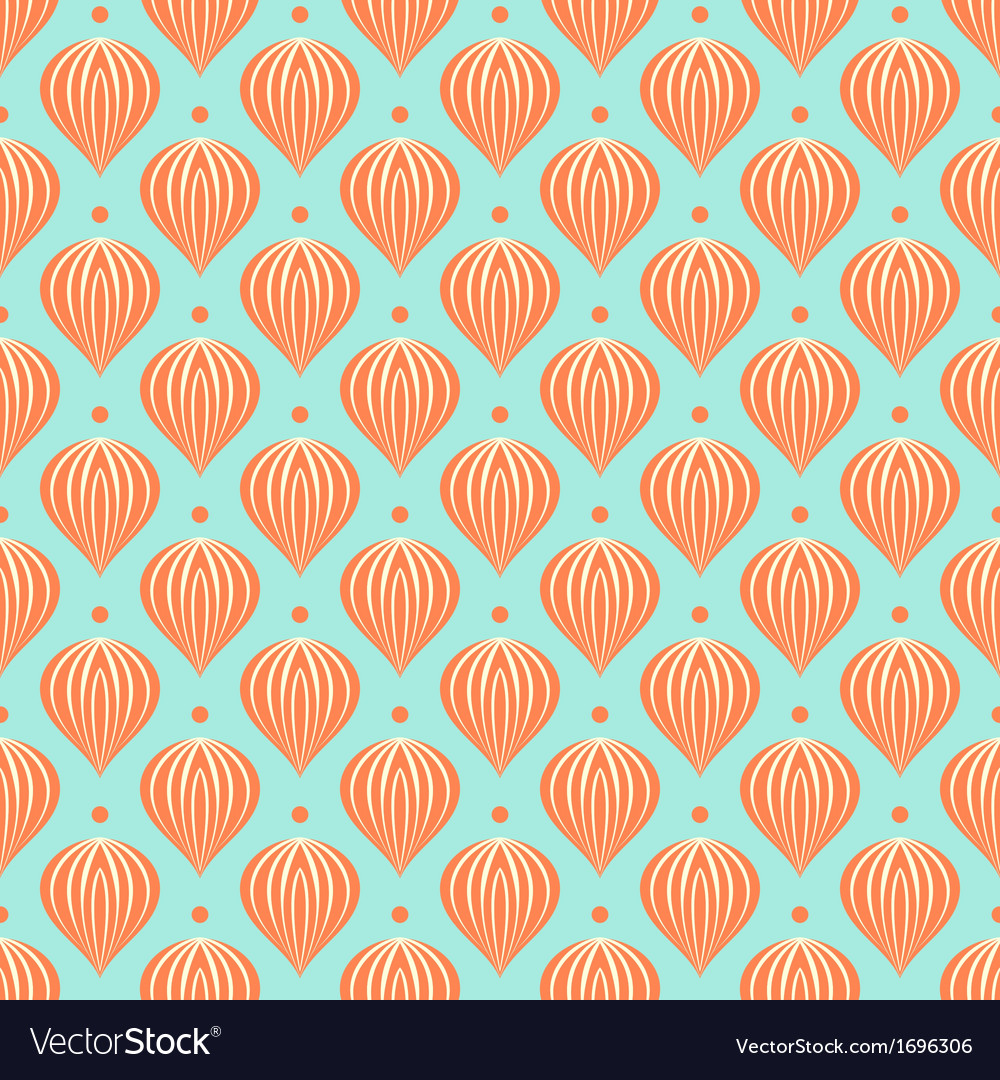 Pattern with shapes similar to hot air balloons vector | Price: 1 Credit (USD $1)