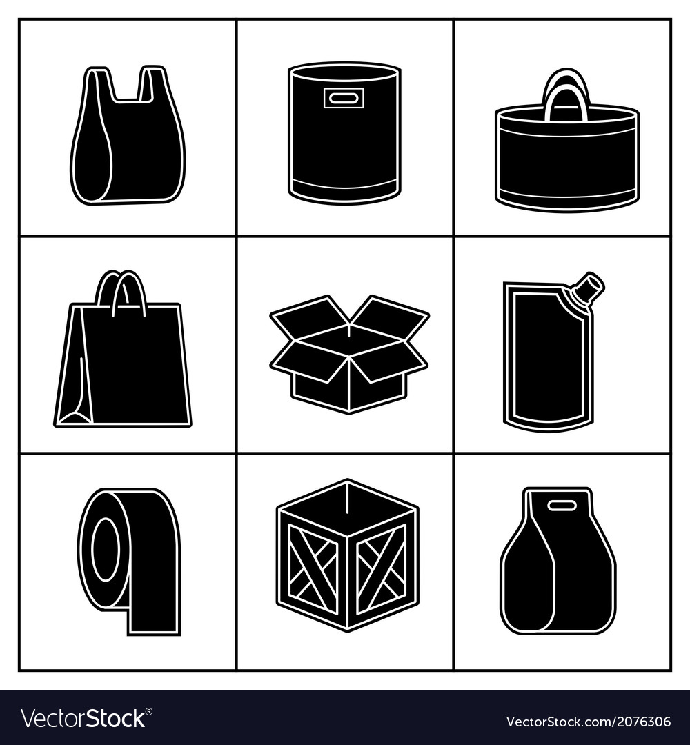Set of package icons vector | Price: 1 Credit (USD $1)