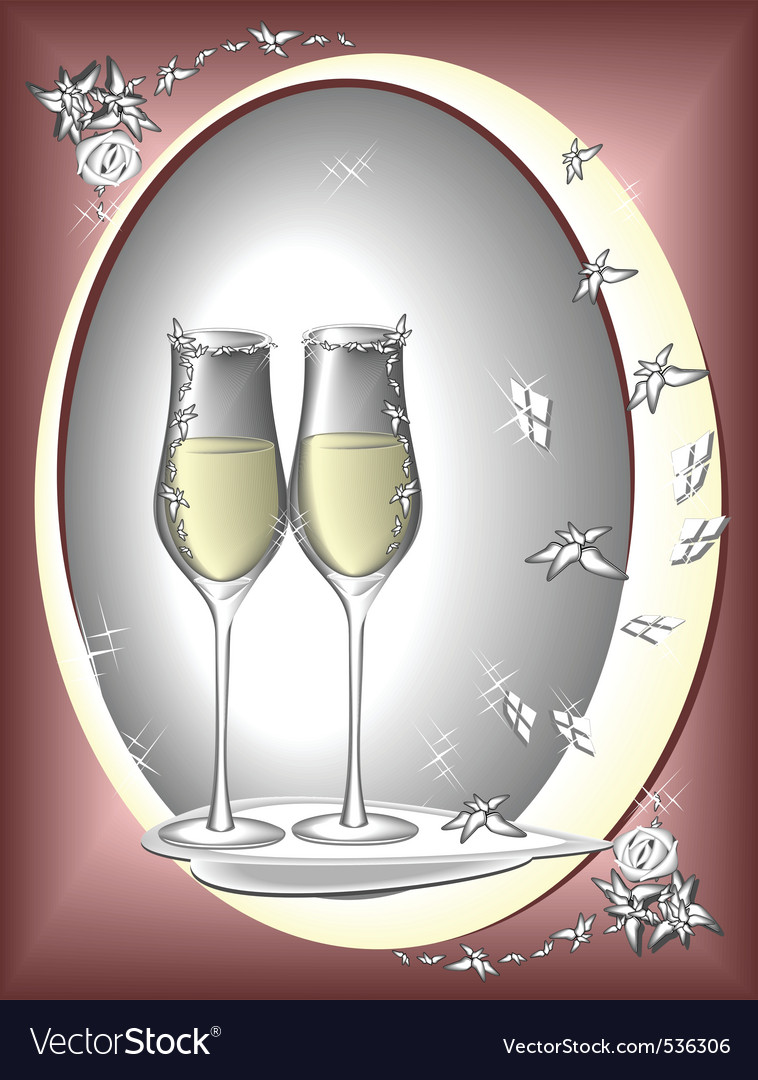 Two glasses to celebrate vector | Price: 1 Credit (USD $1)