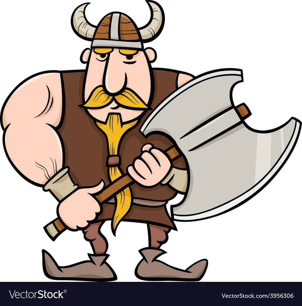 Viking cartoon vector | Price: 1 Credit (USD $1)