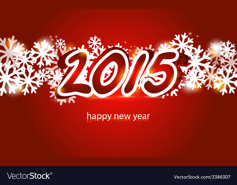 2015 christmas and new year greeting card vector | Price: 1 Credit (USD $1)