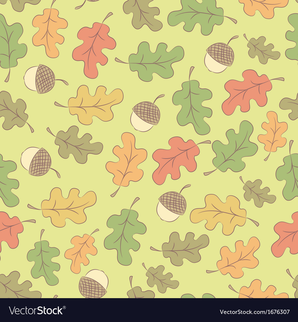 Autumn seamless pattern with acorns vector | Price: 1 Credit (USD $1)