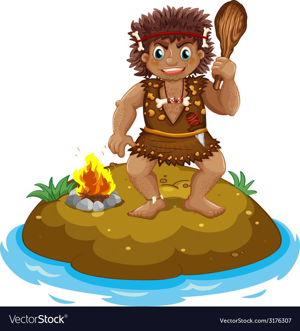 Caveman vector | Price: 1 Credit (USD $1)