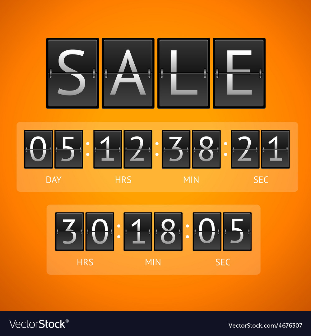 Countdown timer sale vector | Price: 1 Credit (USD $1)