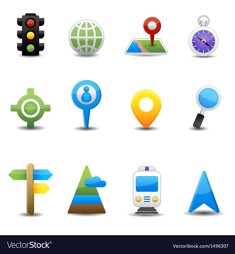 Location and map icons vector | Price: 3 Credit (USD $3)