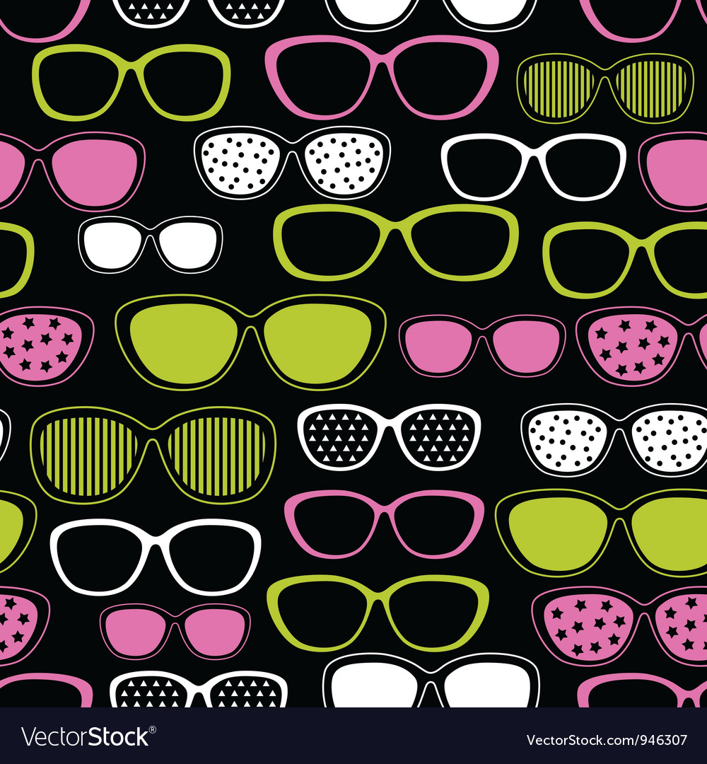 Sunglasses seamless pattern vector | Price: 1 Credit (USD $1)