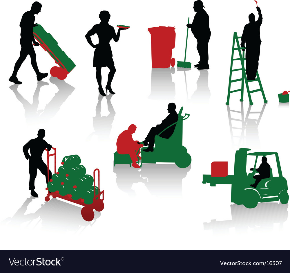 Works people vector | Price: 1 Credit (USD $1)