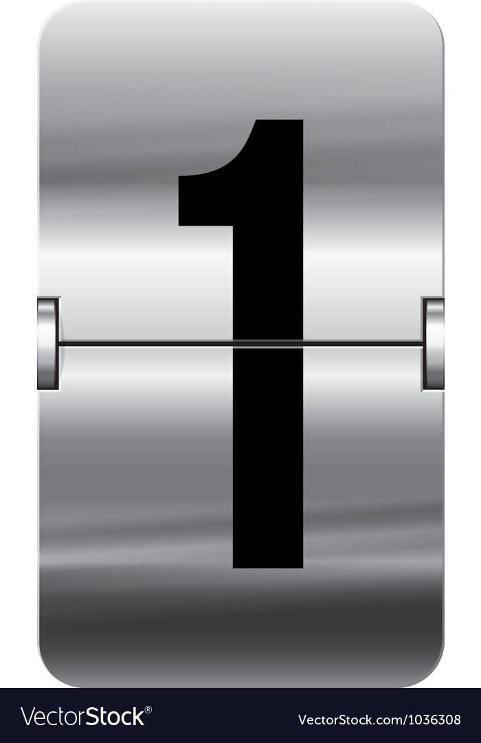 Alphabet silver flipboard letters 1 vector | Price: 1 Credit (USD $1)