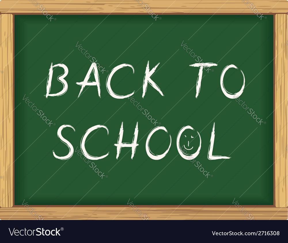 Back to school blackboard poster vector   Price: 1 Credit (USD $1)