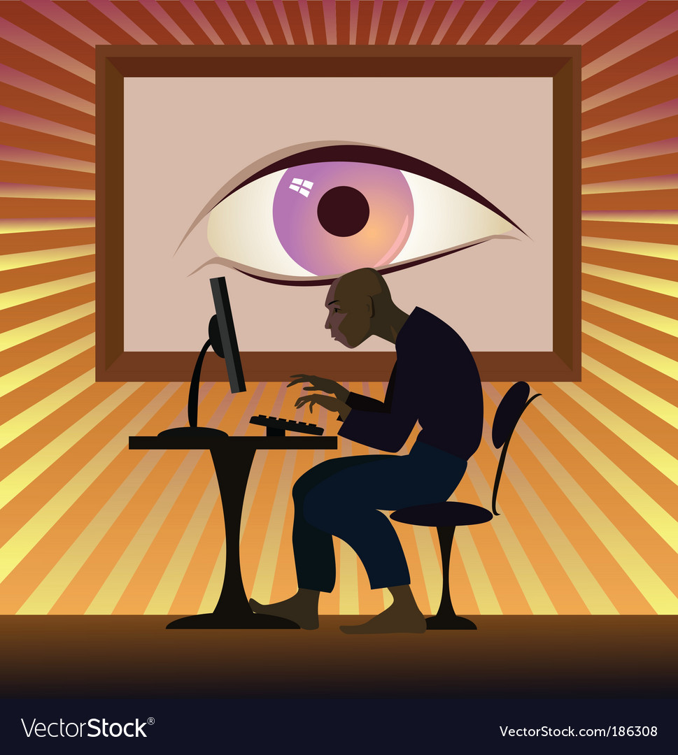 Big brother is watching you vector | Price: 3 Credit (USD $3)