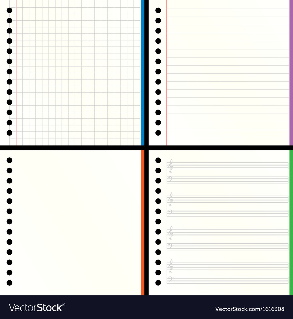 Blank notebook pages vector | Price: 1 Credit (USD $1)