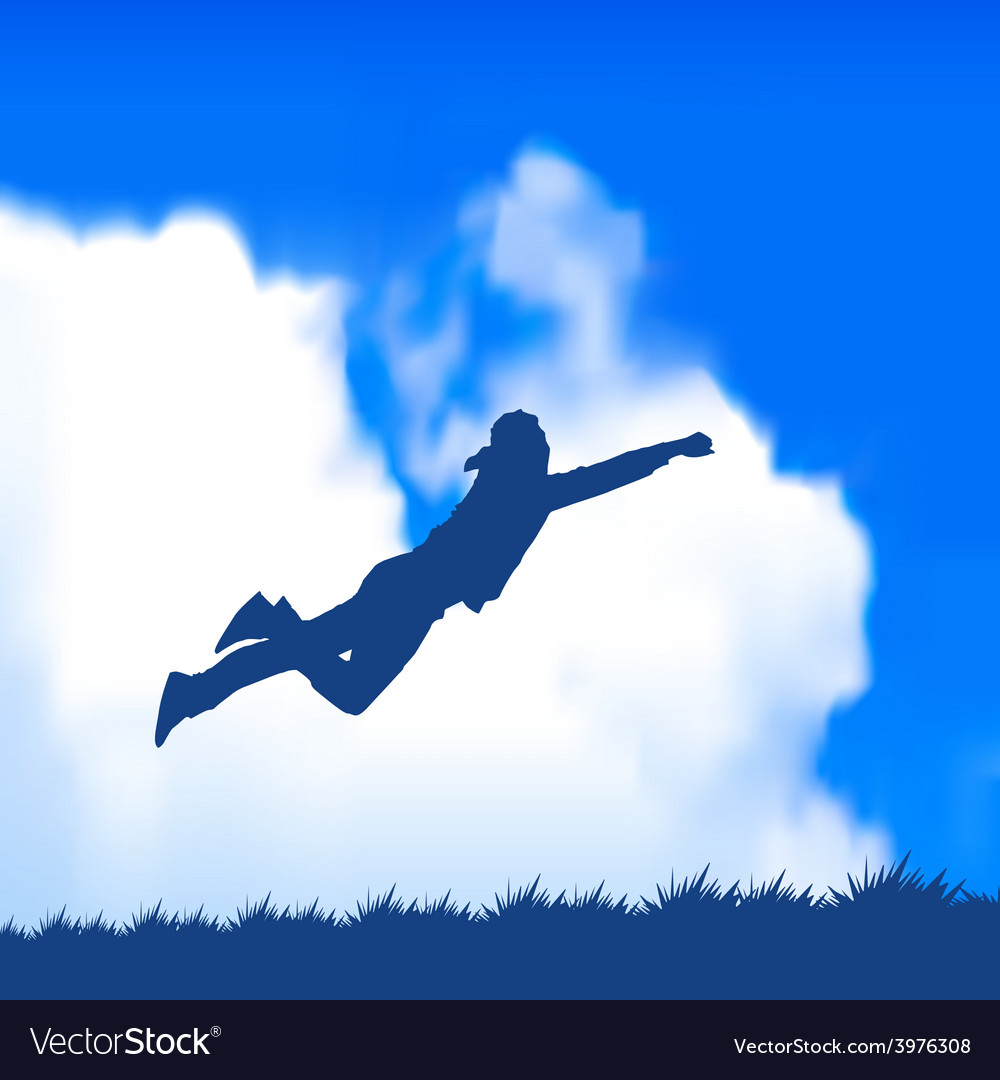 Man jumping vector | Price: 1 Credit (USD $1)