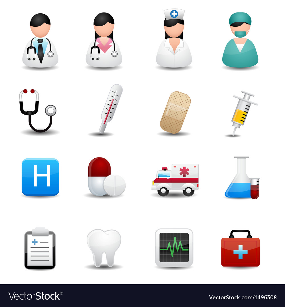 Medical icons set vector | Price: 3 Credit (USD $3)