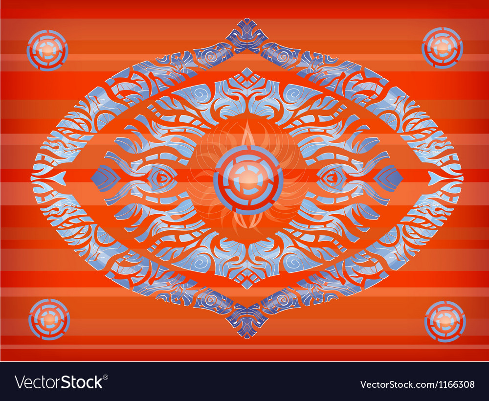 Orange background with blue abstraction vector | Price: 1 Credit (USD $1)