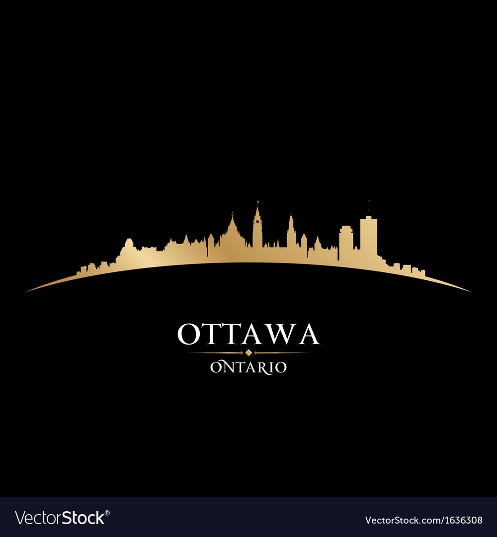 Ottawa ontario canada city skyline silhouette vector | Price: 1 Credit (USD $1)